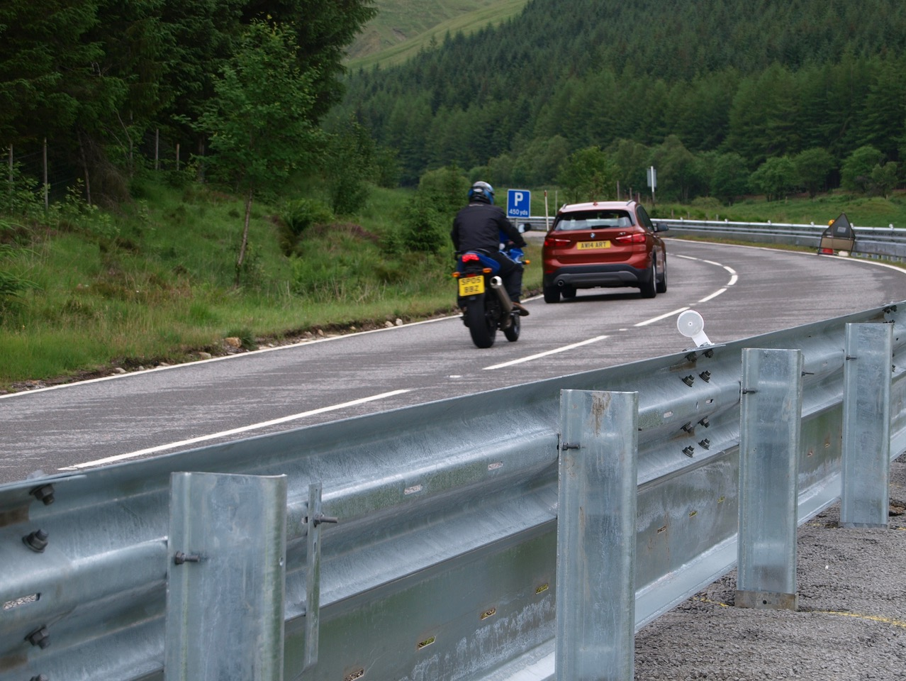 The A82 in Tyndrum featuring Flexbeam